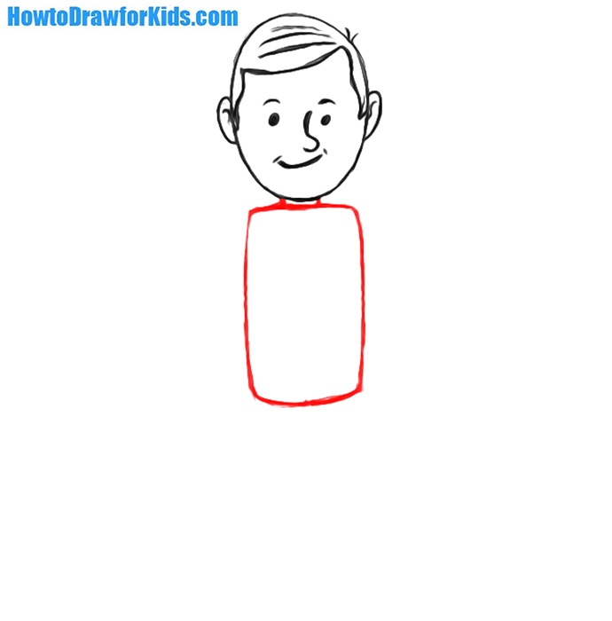 how to draw a man for children
