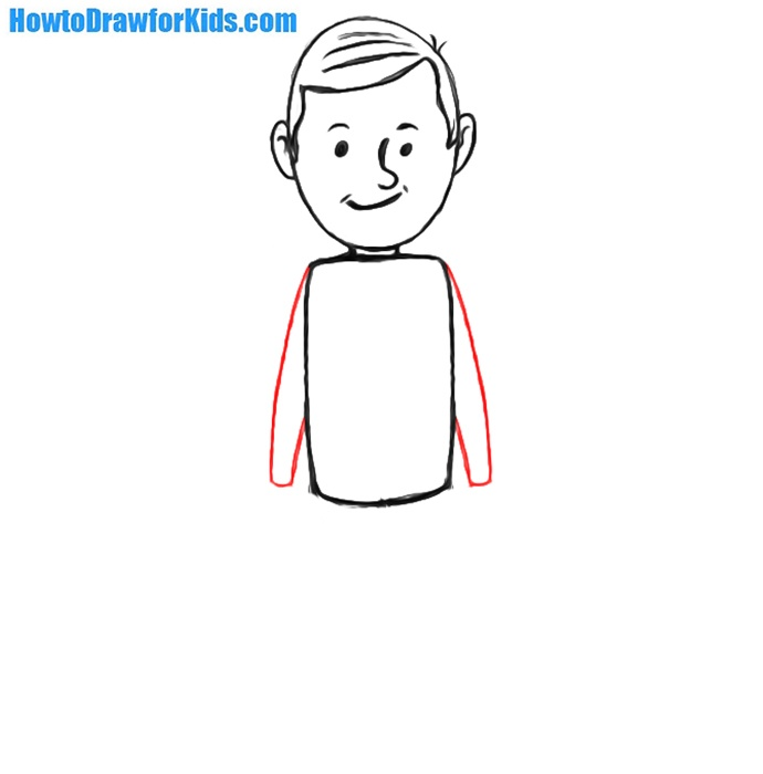 learn to draw a man for kids