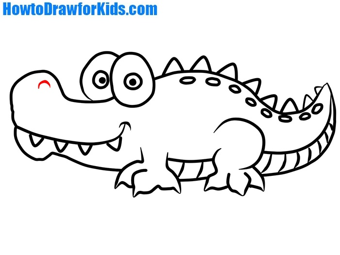 how to draw crocodile for kids howtodrawforkids