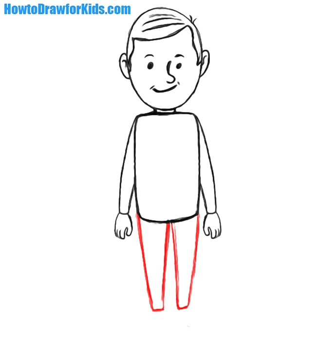 learn to draw man step by step
