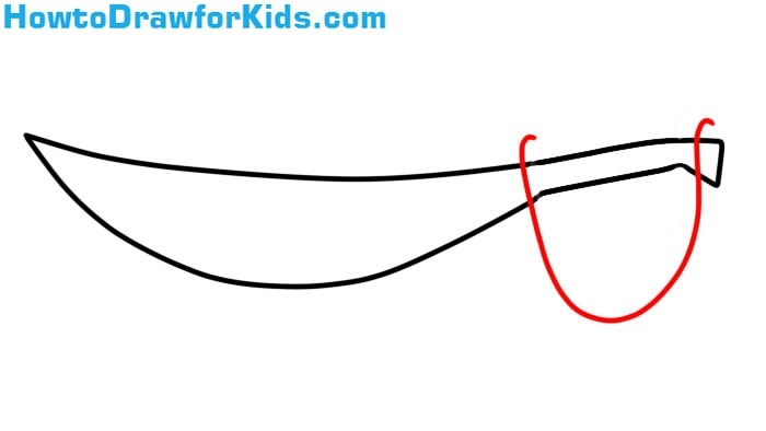 how to draw a Sabre for kids