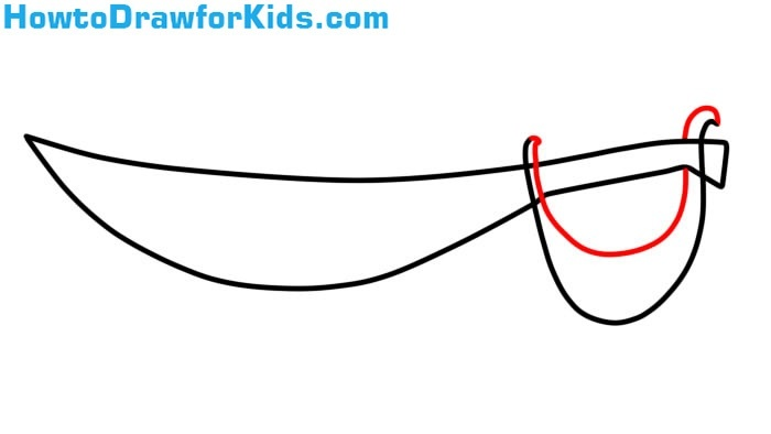 how to draw a Sabre easy