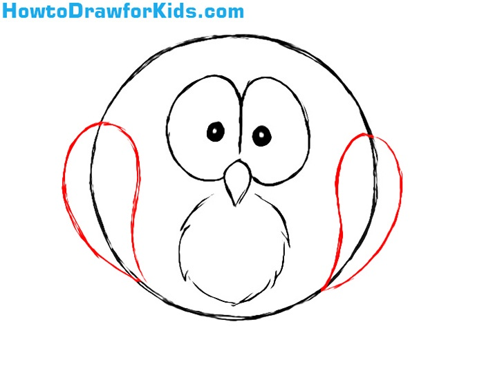 How to draw an owl for kids howtodrawforkids for Steps to draw an owl