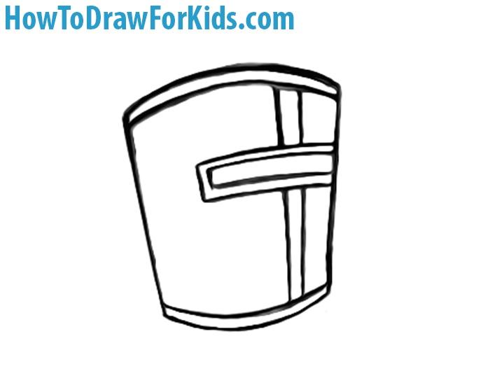 how to draw Crusader Helmet step by step