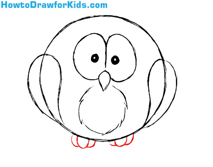 How to Draw an Owl for children