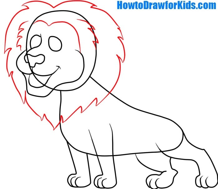 learn to draw a Lion easy