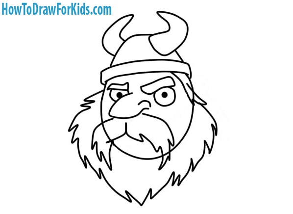 how to draw a Viking Head for beginners
