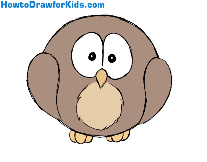 how to draw an owl for kids - Owl Pictures For Kids
