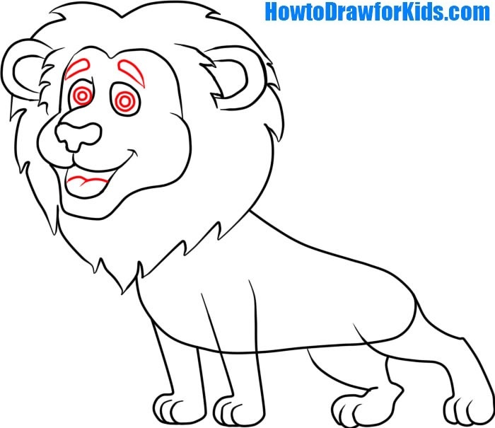 learn to draw a Lion for Kids