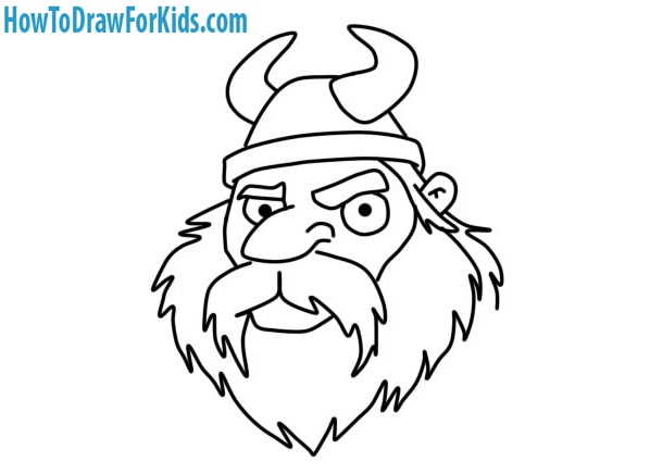 Viking Head drawing