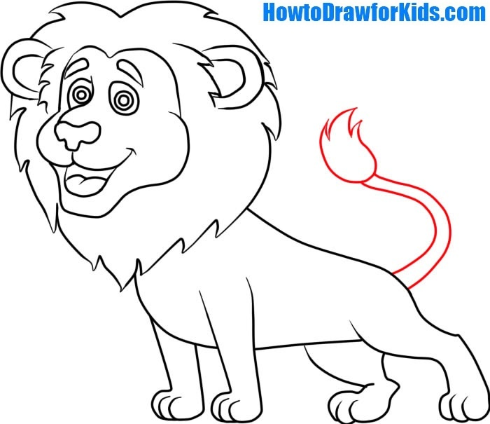 learn how to draw a Lion for Kids