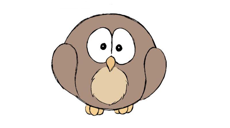 kids how to draw owl