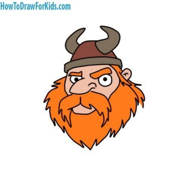 How to Draw a Viking Head for Kids