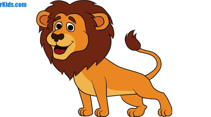 how to draw a lion for kids howtodrawforkidscom