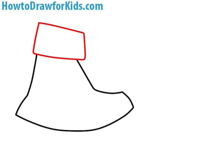 How to Draw an Axe for children