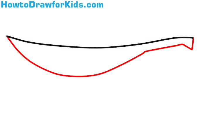 how to draw a Sabre for children