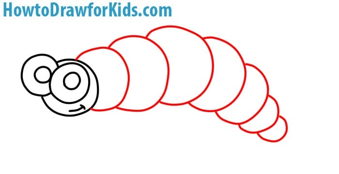 how to draw a caterpillar for children