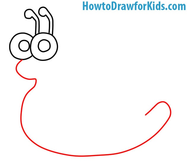 how to draw a Snail for beginners