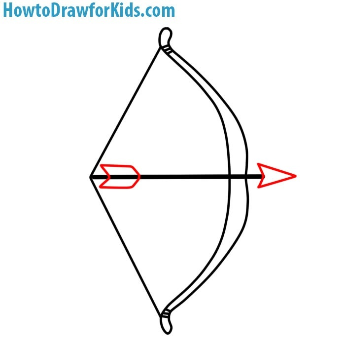 How to Draw a Bow and Arrow for children