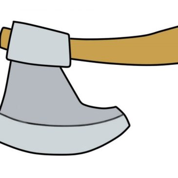 How to Draw an Axe for Kids