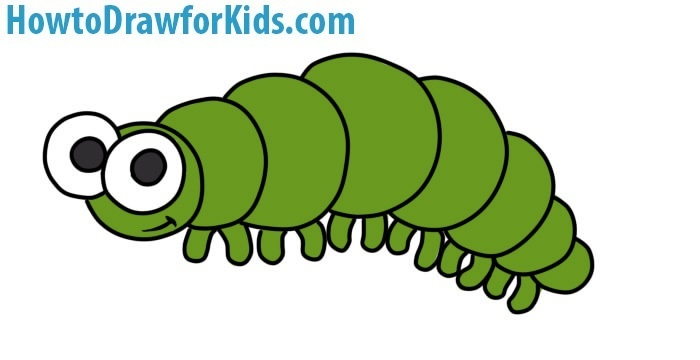how to draw a caterpillar for kids