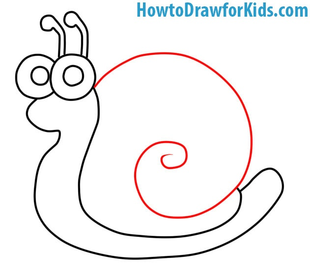 learn how to draw a Snail with a pencil