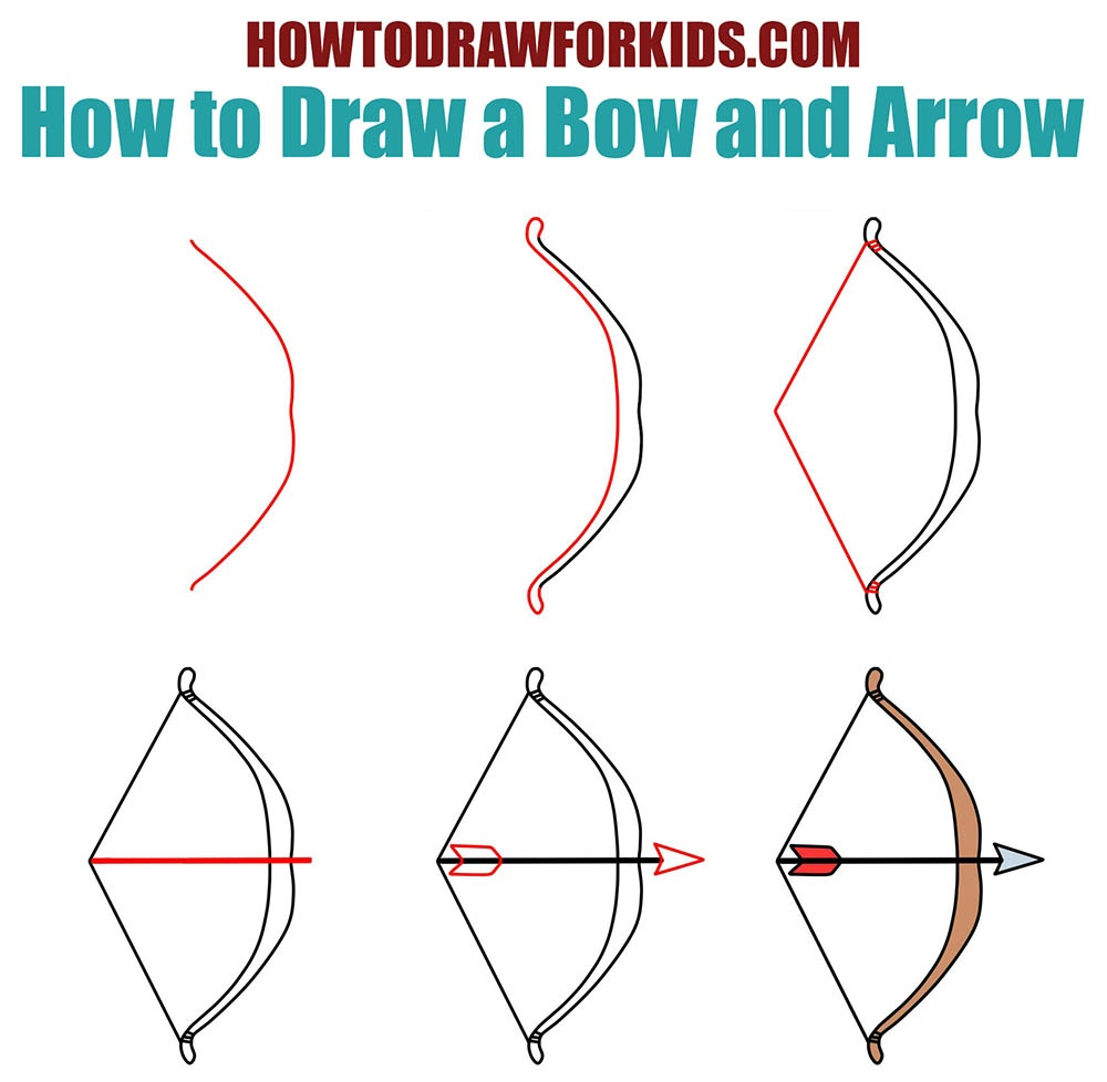 How to Draw a Bow and Arrow for Kids