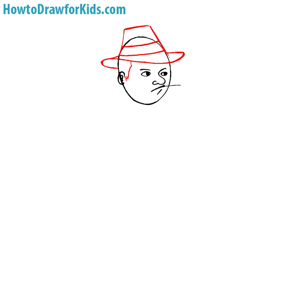easy how to draw a gangster