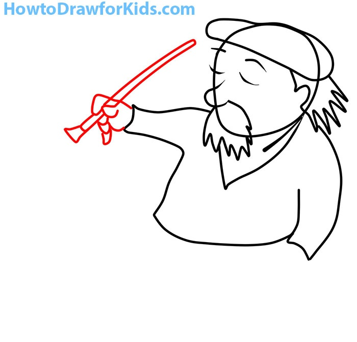how to draw an artist easy