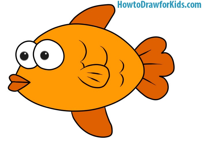 how to draw a fish for kids howtodrawforkids
