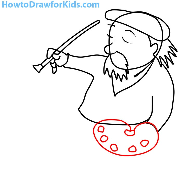 how to draw an artist for beginners