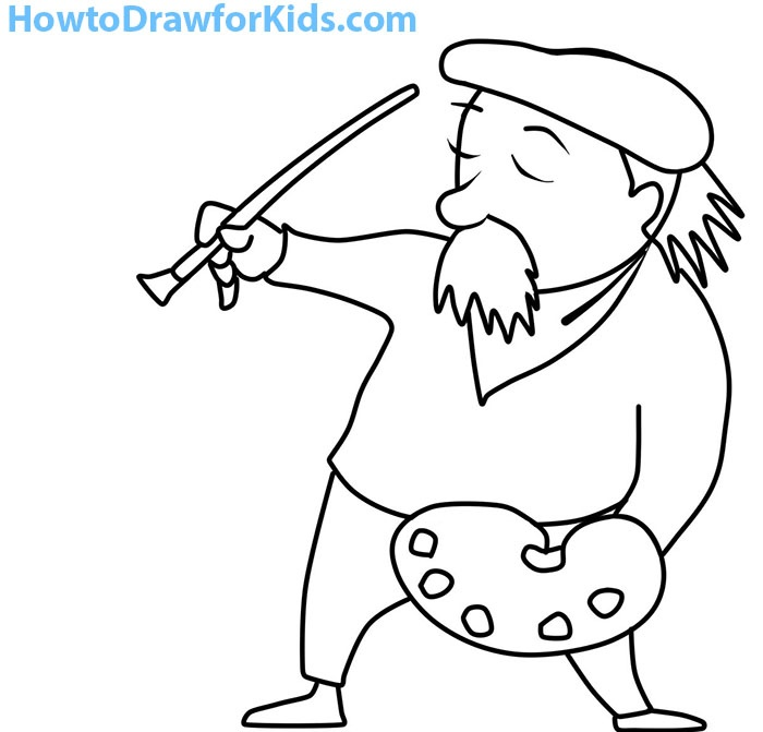 how to draw an artist for kids how to draw for kids