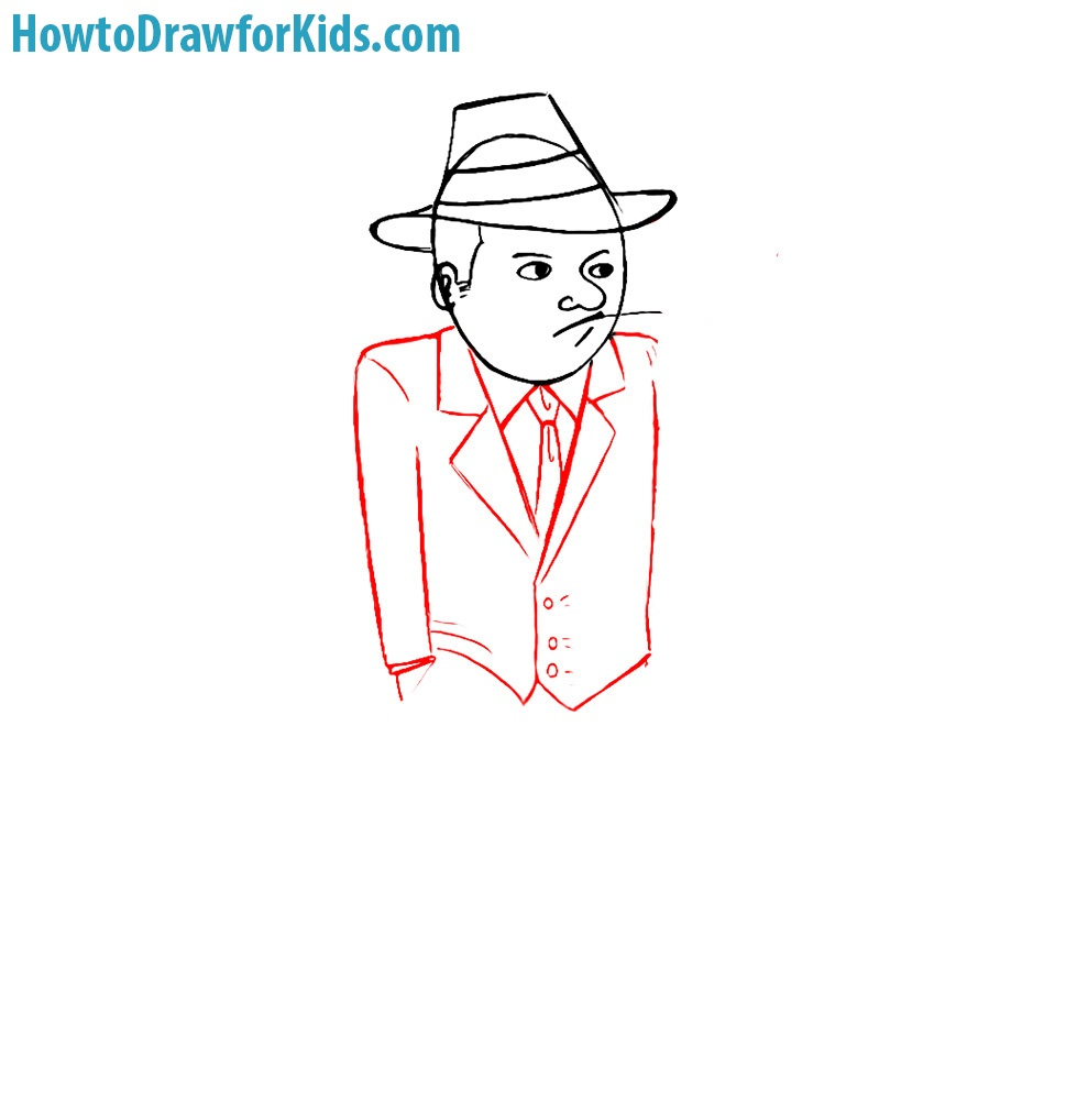 learn how to draw a gangster