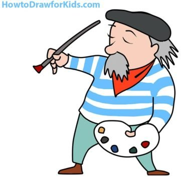 How to Draw an Artist for Kids