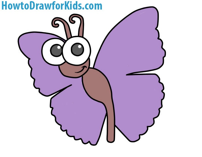 How to draw a butterfly for kids howtodrawforkids