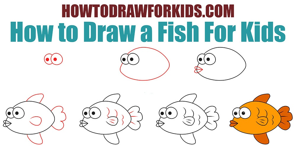 How To Draw A Fish For Kids How To Draw For Kids
