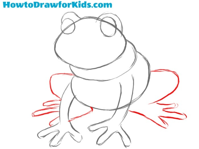 Learn how to draw a frog step by step