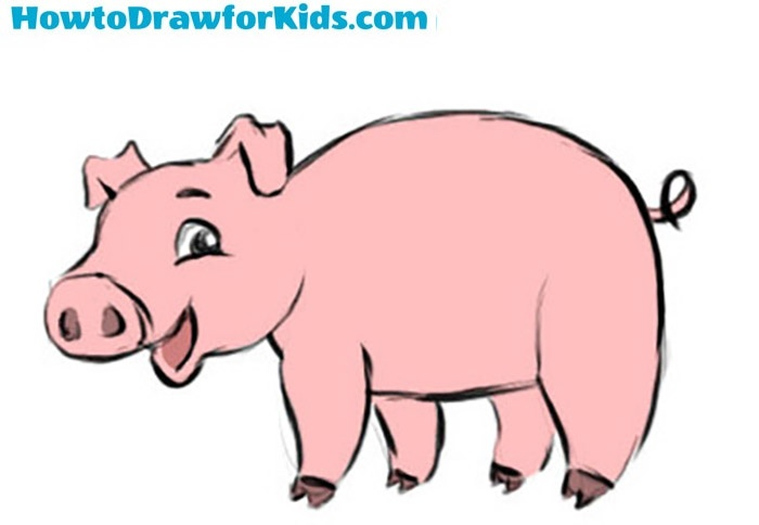 How to Draw a Pig for Kids | How to Draw for Kids