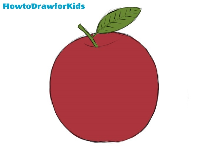 How To Draw An Apple For Kids How To Draw For Kids