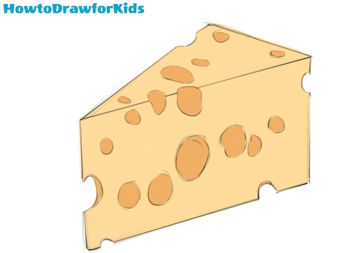 Cheese drawing tutorial