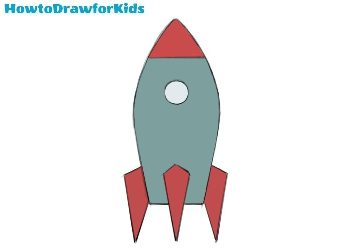 How to draw a spaceship for kids