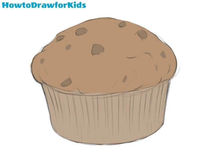 Muffin drawing