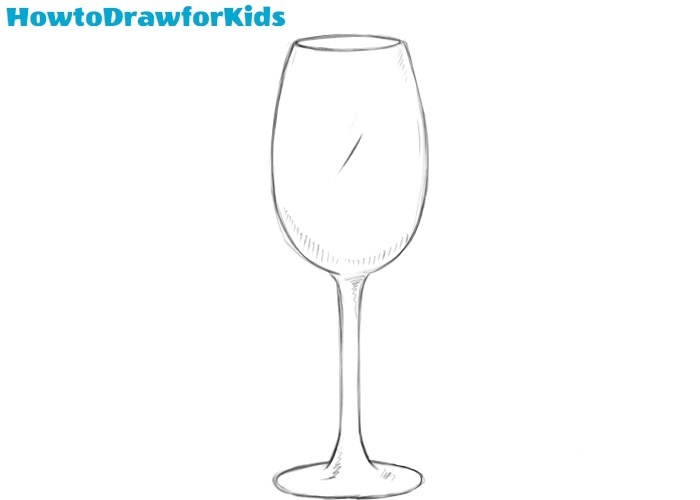 Wine glass drawing