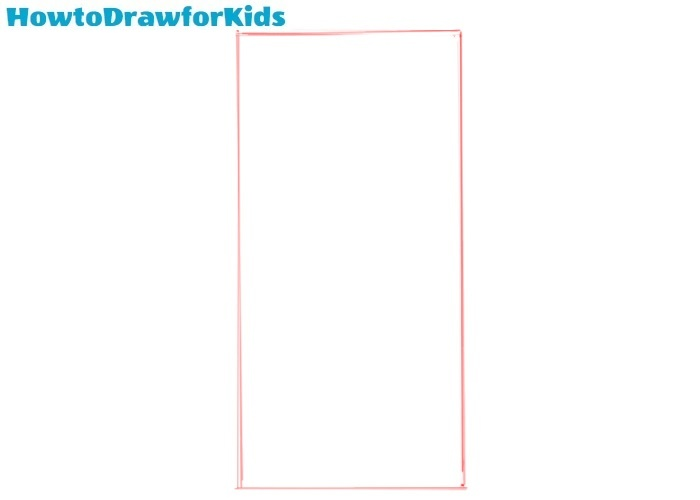 How to draw an iphone for kids