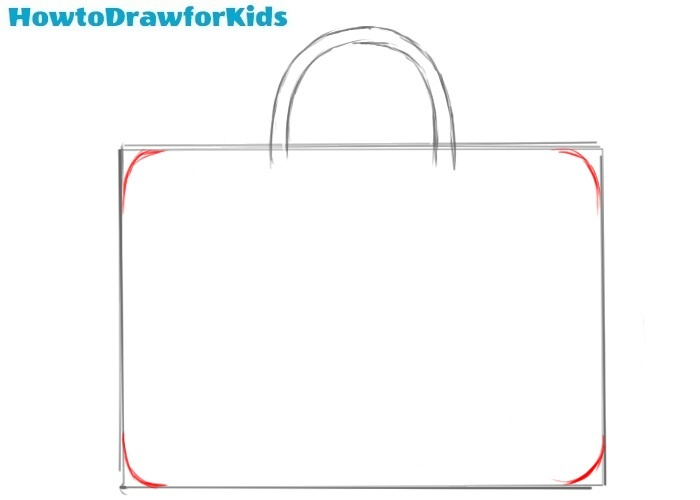How to draw a bag for beginners