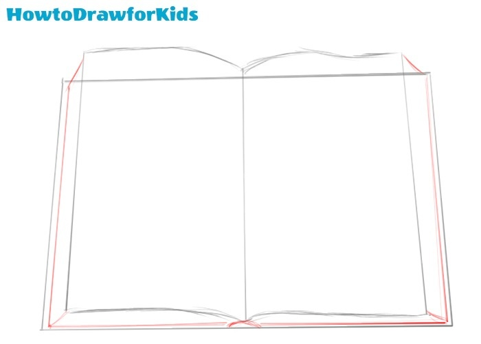 How to draw a book for beginners
