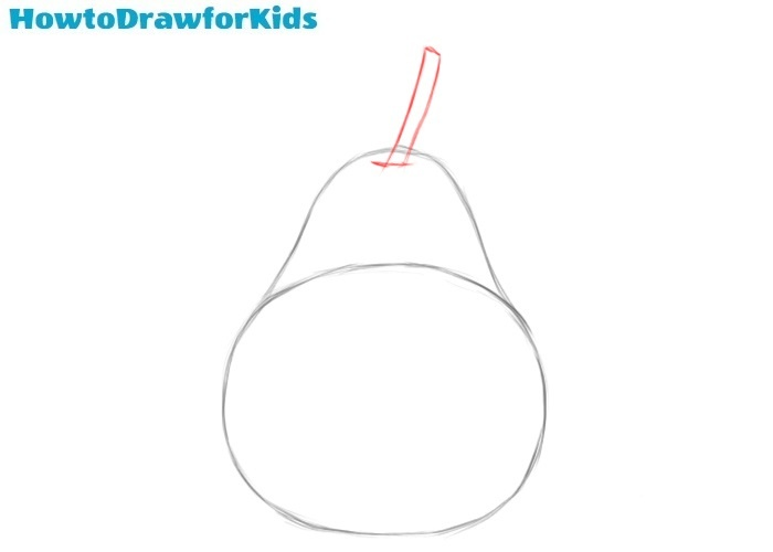 How to draw a pear easy