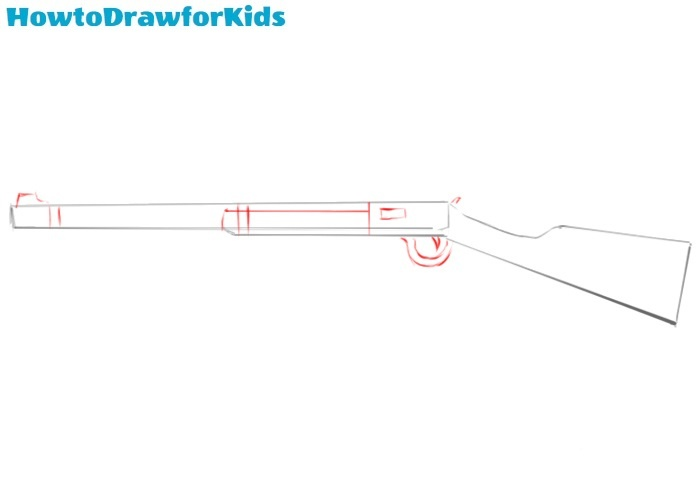 How to draw a rifle easy