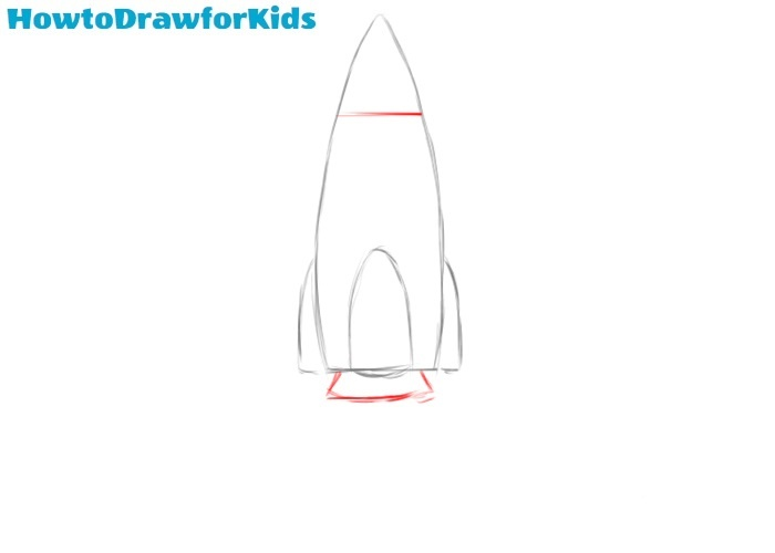 How to draw a rocket easy