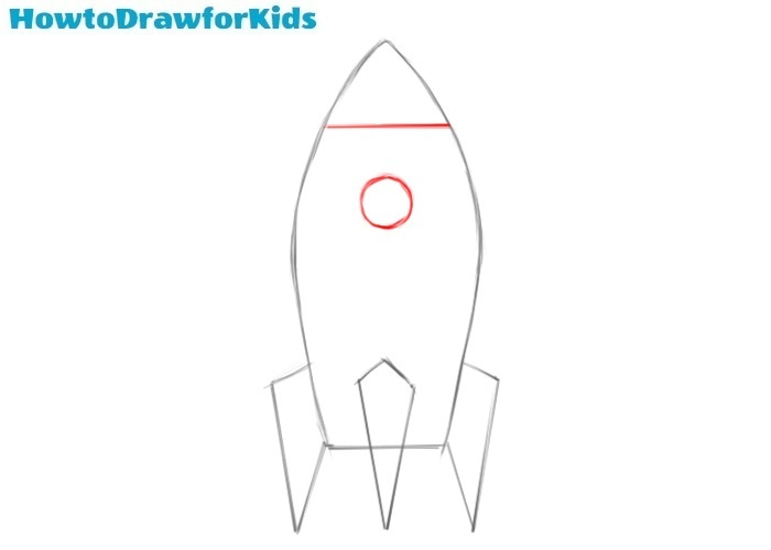 How to draw a spaceship step by step